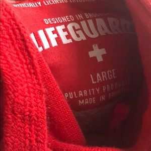 Popular Basics Jackets & Coats - Red life guard hoodie from the beach